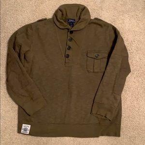 Polo Ralph Lauren Olive Green Henley Sweatshirt